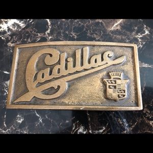 1970's Brass Cadillac Belt Buckle
